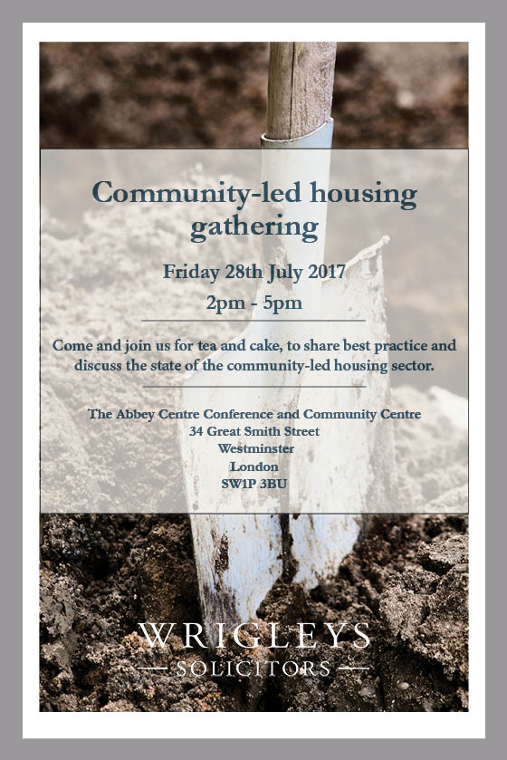 Community - led housing gathering flyer - 28th July