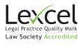 Lexcel Legsl Practice Quality Mark. Law Society Accredited
